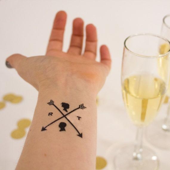 Wedding temporary tattoos custom personalized arrow tattoos for Temporary tattoos wedding