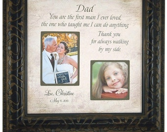 Parents of the Bride Gift, Personalized Picture Frame, Dad, First Man I Ever Loved, Father of the Bride, Personalized Frames, 16 X 16