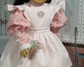 1900s Pink Dress and Pinafore for 18 inch Dolls like Samamtha
