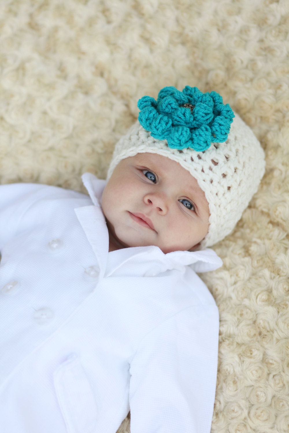 Stylish Baby Gifts Australia : Gifts for baby girl hand crocheted cream hat unique