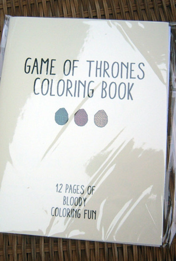 Game Of Thrones Coloring Book Review : Game of Thrones Coloring Book