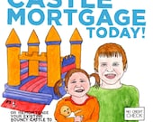 Bouncy Castle Mortgage - Limited edition giclee print