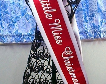 Childs Satin Sash Personalized Costume Pageant Banner