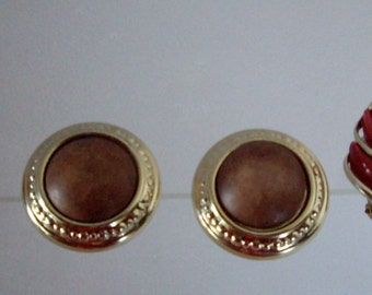 Vintage clip on earrings three pair 1970s