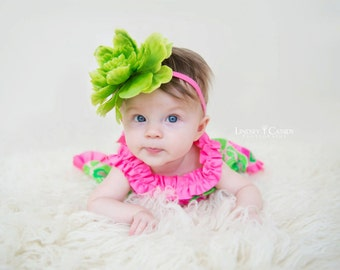 Large Spring Green Flower Headband perfect for a Photo Shoot