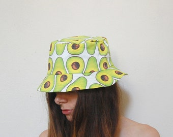 Avocado print bucket hat