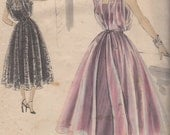 Bust 30-1950's Misses'' Dress and Slip Vogue Special Design 4073 Size 12 Hip 33
