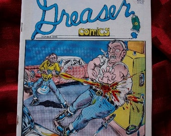 Greaser No 1 First Printing 1971 Comix DeCaprio Jacoma Bloomer Dowd Collage Underground Alternative Head Raw Comics ADULT MATURE