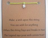 Tiny Shamrock St PATRICKS Day Wish String Bracelet Shamrock CLOVER Chicken Cord Color Choice