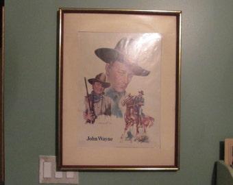John Wayne Poster Print / 1977 / John Ford Cowboy Kings Of Western Fame Framed Poster
