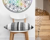 Flower of Life Vinyl Wall Decal | mandala seed Sacred geometry, sticker art, home decor