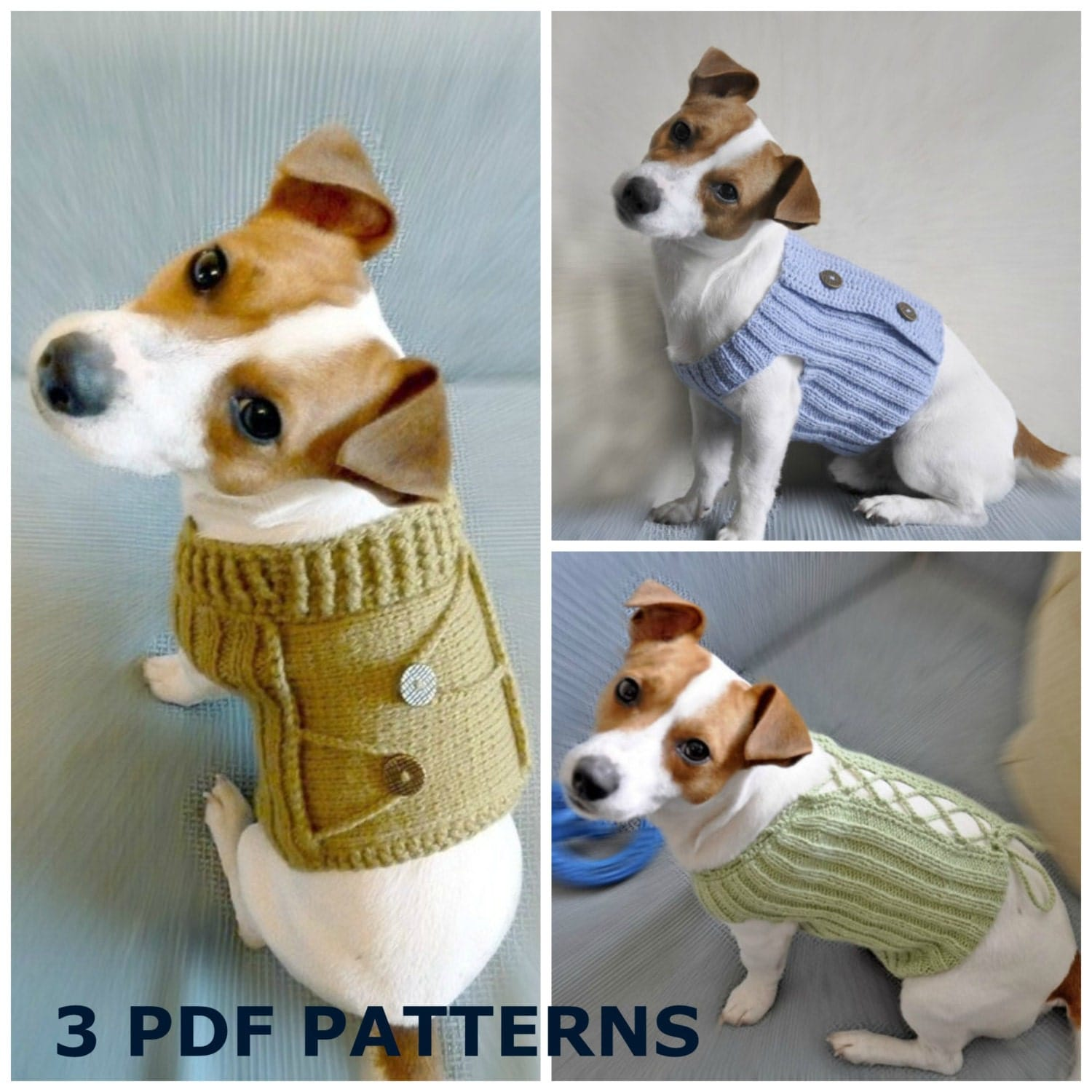 Knitted Dog Sweater Patterns Australia: Puppy pet dog cat various ...
