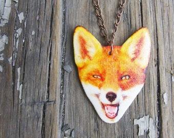Animal Jewelry Fox Fashion Necklace Woodland Trend