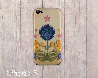 Polish Folk Flowers inspired iPhone case, Wycinanki Inspired iPhone Case for iphone 5/5s and iphone 4/4s,  European folk art iphone cover