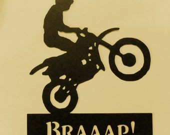 Biker,Braaap,Rider,Metal Art,Freestyle Motocross,Dirt Bike,Gift,FMX,Racing,NEW