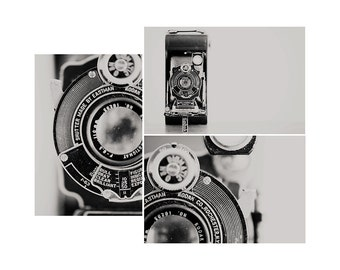 vintage camera photograph vintage camera print camera print set kodak camera photograph black and white photography