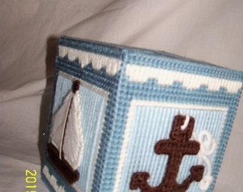 Nautical Tissue Box Cover