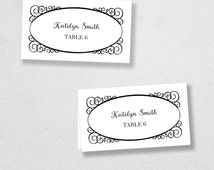Avery Place Card Template - INSTANT DOWNLOAD - Escort Card - For Word and Pages - Mac and PC - Flat or Folded - Frame