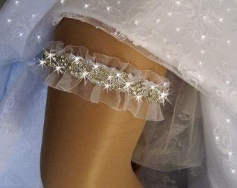 Wedding Garter /  Rhinestone Garter / Crystal Garter / Garter Belt / Wedding Garter Set