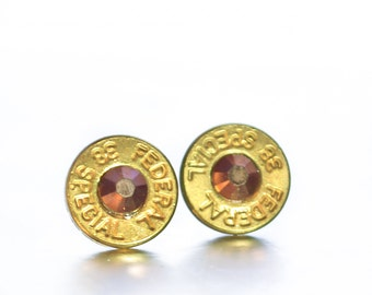 Bullet Stud Earrings- Brass and Bronze