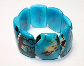 Tagua Nut Bracelet - Eco-friendly Jewelry- Boho