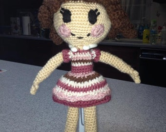Custom Crocheted Lalaloopsy Doll