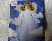 Angel Doll Pattern Linda Carr Angel Pattern UNCUT Vogue 9280 27 inch Doll Pattern 1995 Out of Print With Face Transfer Christmas Gift
