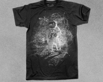 Men T Shirt - Outer Space Explosion Science Tee