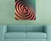 Sci-Fi Decal Wall Sticker Art– Spiraling One by Lyle Hatch