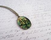 Mermaid Jewelry, Mermaid Necklace, Victorian Necklace, Vintage Bronze Necklace, Made in Sweden, Antique Bronze,