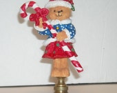 Vintage Christmas Lamp Finial, Lamp Topper, Lamp Finial, Christmas Lamp Topper, Lamp Topper,  Christmas Home Decor, Christmas
