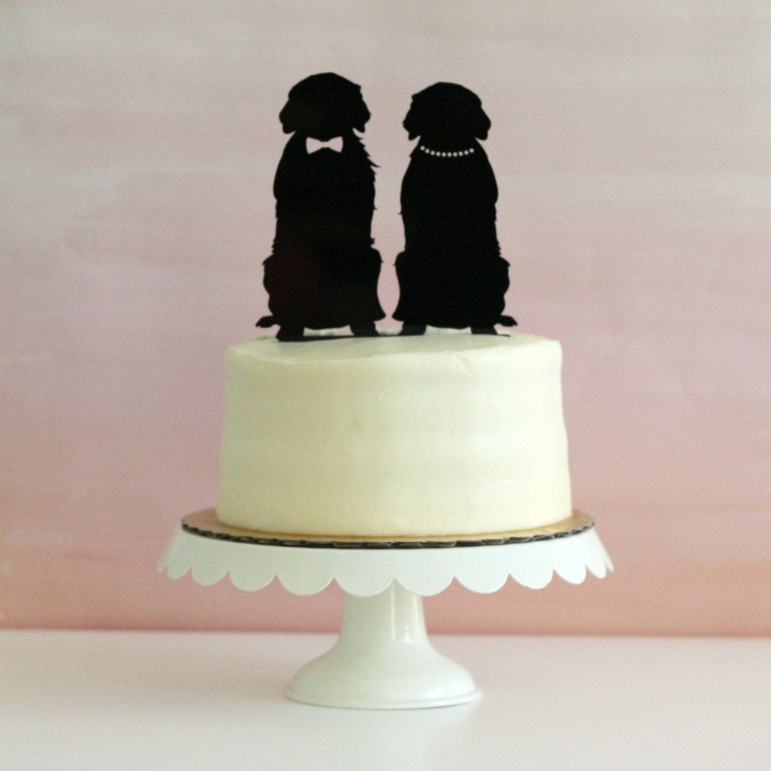 wedding cake topper with dog uk reserved listing for villanueva replacement topper 26661
