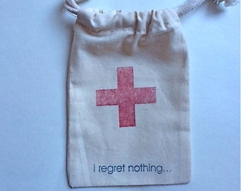 Hangover Kit/ First-Aid Hotel Room Drop for Out of Town Guests Muslin Bags / Set of 70/ Perfect for Weddings or Parties