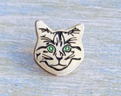 Cat Face Badge