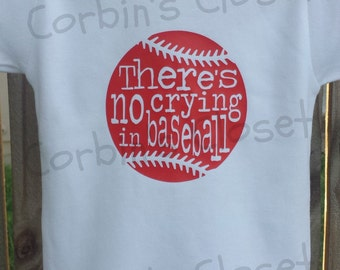 Baseball One Piece Creeper - There's no crying in baseball