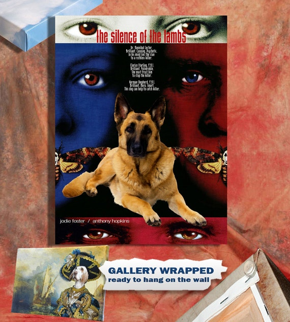German Shepherd Art Poster Canvas Print - The Silence of the Lambs Movie Poster NEW Collection by Nobility Dogs
