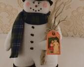 Snowman, Winter Decor, Fabric snowman