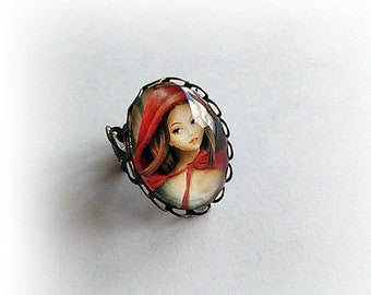 Cappuccetto Rosso (Red Riding Hood) - Adjustable Ring