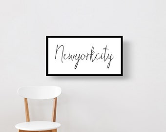 New York City, Typography Poster, Fine Art Print, Premium Canvas Gallery Wrap