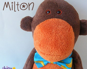 Milton Monkey - softie pattern (plushie, stuffed animal, toy, digital pattern)