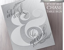 Wedding Candy Buffet Sign - Silver - Pewter - Dessert Station Wedding Reception - Eat, Drink & be Married - DIY Printable - Instant Download