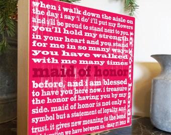 Best Friend, Best Friend Gift, Bridesmaid Gift, Sister, Sister Gift, Bridesmaid Gift, Maid of Honor, Rehearsal Dinner Gifts