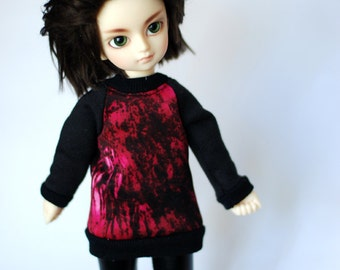 YoSD Raspberry And Black Sweater For BJD