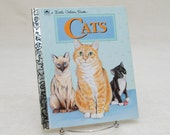 Children's Book: Cats - Little Golden Book Series, 1994, Collectible Book, Children's Library, Story Picture Book, House Cat, Pets
