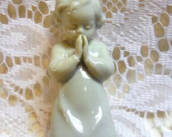 Praying Child, German Porcelain Figurine, Metzler & Ortloff