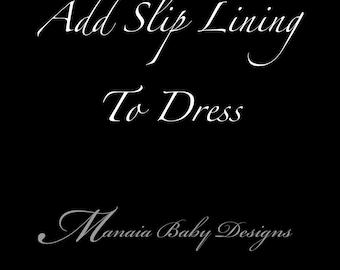 Add Slip Lining to Dress