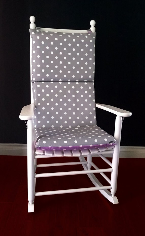 Rocking Chair Cushion Cover Grey Polka Dot By RockinCushions