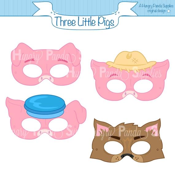 Three Little Pigs Printable Masks three little pigs big bad