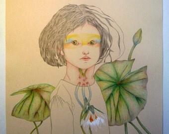 Water lilies, original drawing