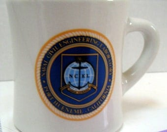 Vintage Mug,Naval Civil Engineering Laboratory,Port Hueneme California. Military,Keepsake,Coffee Mug,Collectible Mug,Mug Collectors